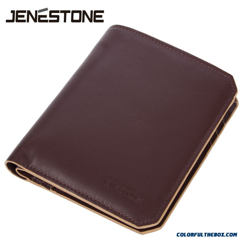 Certified Bags Men Short Wallets Vertical Leather Wallets Ultra-soft Not Deformed