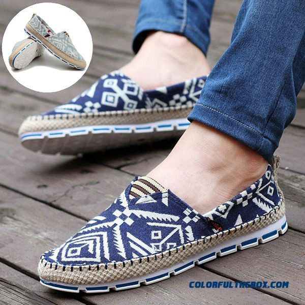 Cheap High Quality Canvas Shoes For Men Breathable Fashion Casual Driving Shoes Lace-up Flats Shoe New Alpargatas