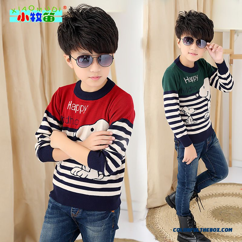 Cheap Kids Clothing Kids Boy Kids Small Round Neck Sweater Thick Wool Cashmere Bottoming Shirt