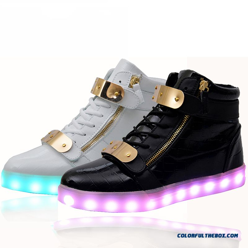 Cheap Lights Up Led Luminous Casual Shoes High Glowing With Charge Simulation Sole For Women & Men Adults For Sale