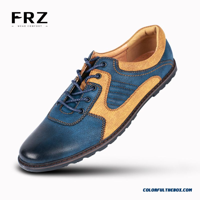Cheap New Men Casual Shoes Action Leather Breathable Men Flats Shoes Mixed Colours Dress Oxford Shoes For Men