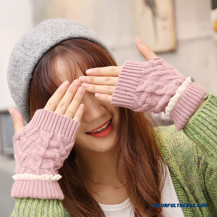 Cheap Price Good Quality Of Women New Winter Long Mitts Faux Rabbit Fur Wool Half-finger Mittens Accessories