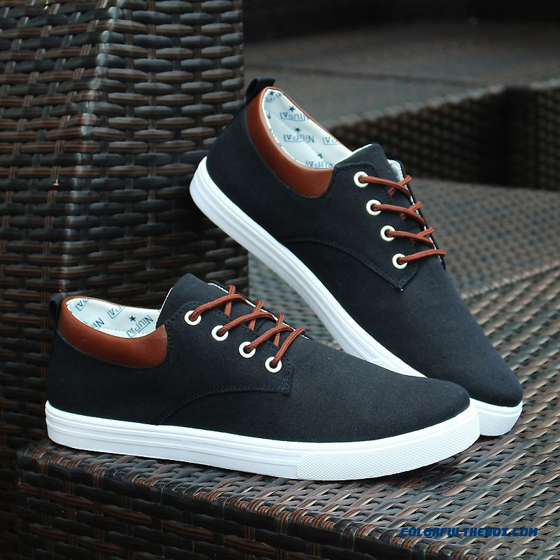 Mens Waterproof Casual Shoes Grey Lace Up