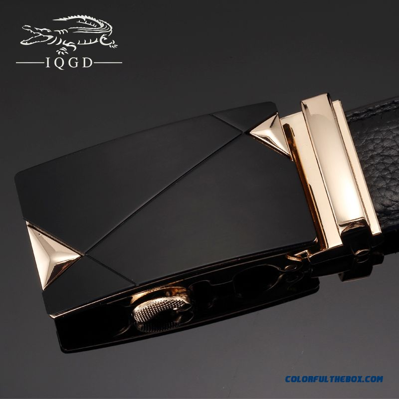 Cheap Wholesale Custom Design First Layer Of Pure Leather Business Genuine Leather Automatic Buckle Belt For Men