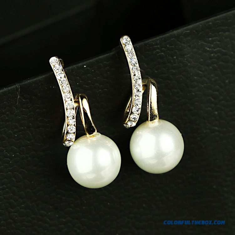 Cheap Wholesale Pearl Earrings Hypoallergenic Women Fashion Jewelry Free Shipping