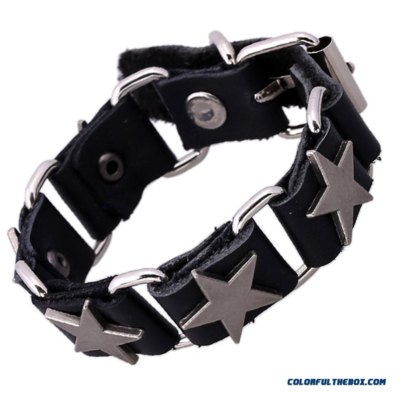 Cheap Wholesale Women Connection Cowhide Leather Bracelet Jewelry