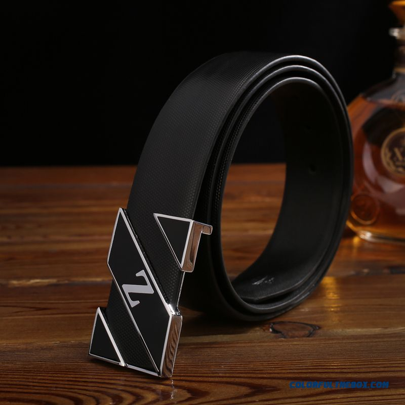 Chian Original Design Gfkf Brand Men Belt Smooth Buckle Youth Teenage Blets Accessories