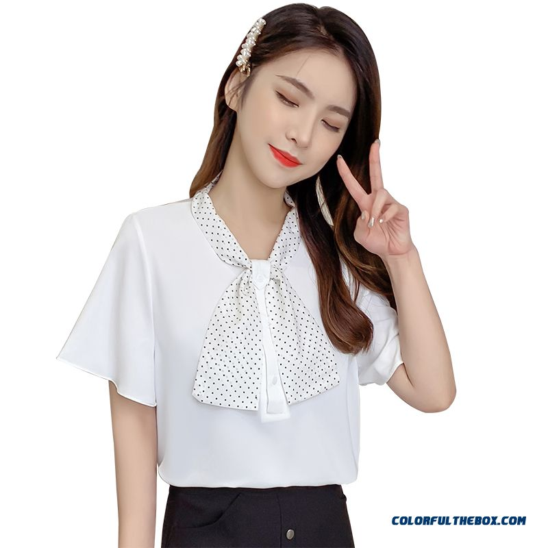 Chiffon White Summer Sweet 2019 Women's Fashion Design Europe Coat New