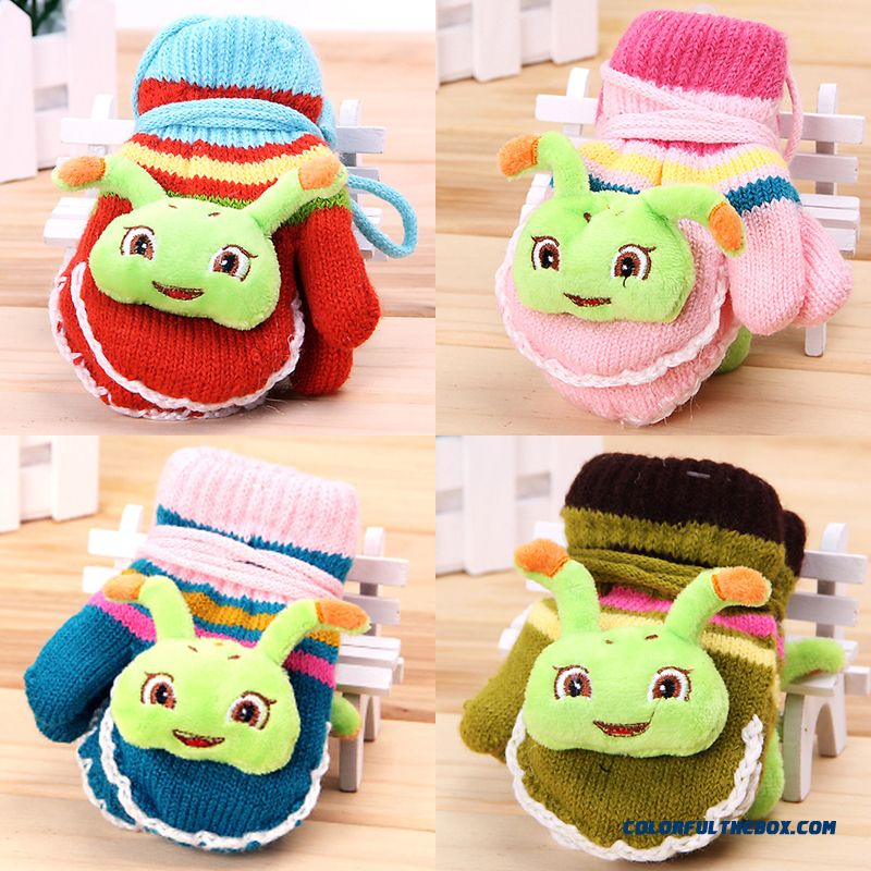 Child Kids Mittens Warm Winter Lovely Sugar Treasure Mittens 1/2/3/4 Years Old Baby Girls Cartoon Mittens Autumn
