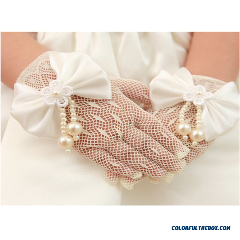 Child Kids Wedding Dress Princess Dress Girls Costumes Accessories Ladies Gloves