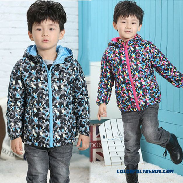 Children Kids Camouflage Coat Boys Winter Clearance Hooded Jacket - more images 1