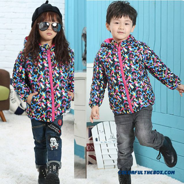 Children Kids Camouflage Coat Boys Winter Clearance Hooded Jacket - more images 3
