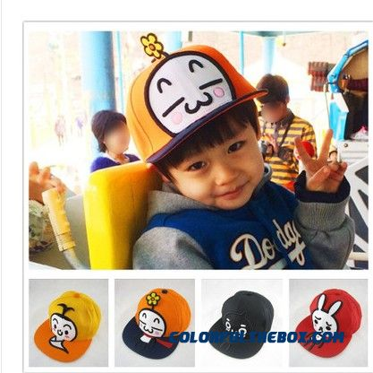 Children's Cartoon Adjustable Baseball Cap Flat-brimmed Hip-hop Hat Cap Kids Boy And Girl's Accessories