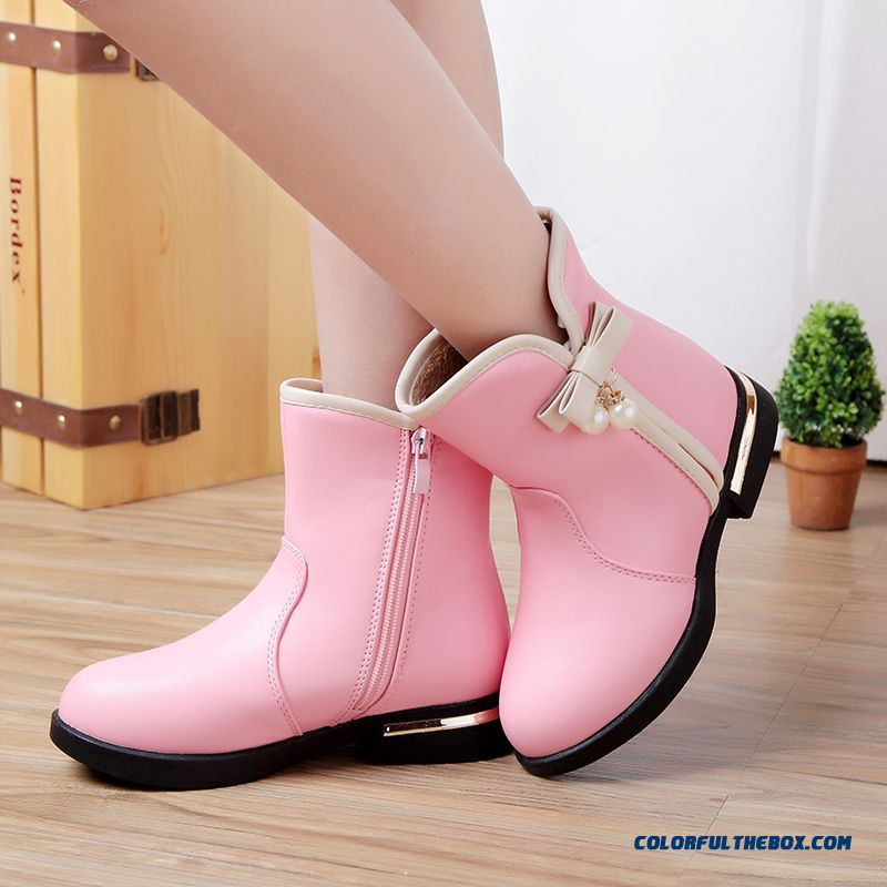 Children's Casual Shoes Half Boots Warm Waterproof Leather Boots Special For Girls