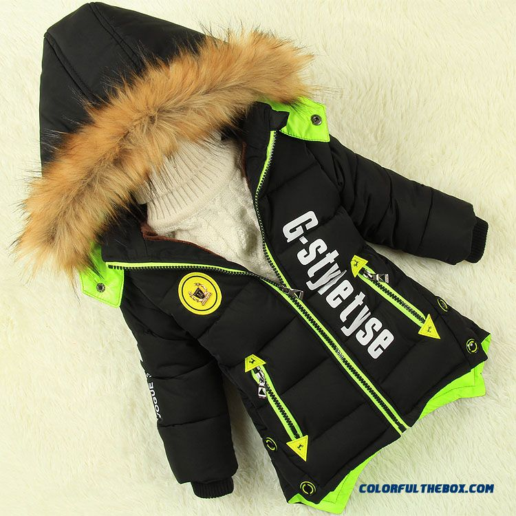Children's Clothing New Winter Coat Thick Coat With Fur Color Design For Boys