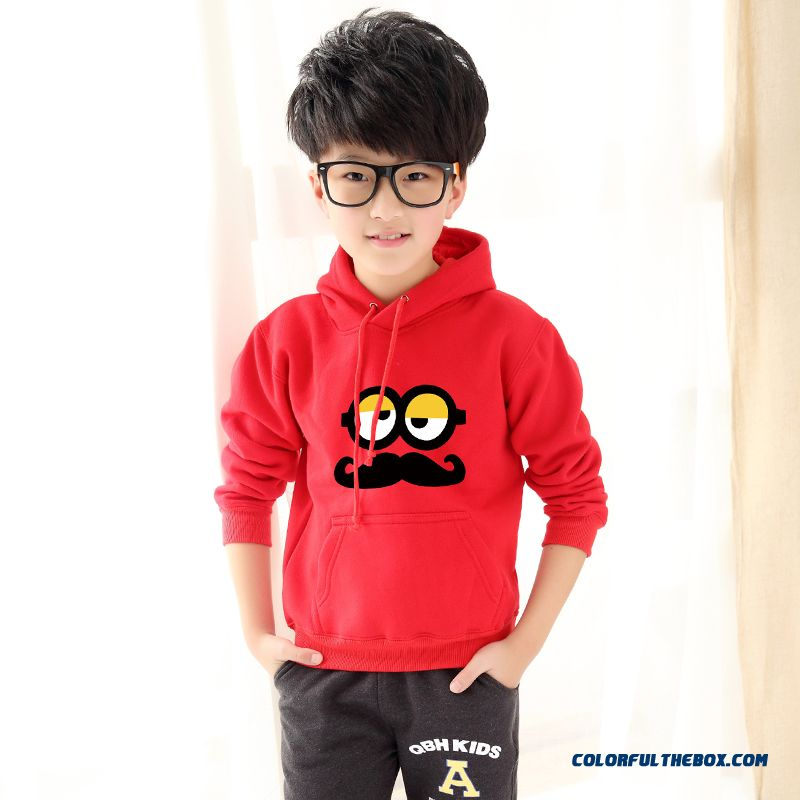Children's Long-sleeved T-shirt Older Kids Cartoon Hooded Long-sleeved Special Offer T-shirt For Boys