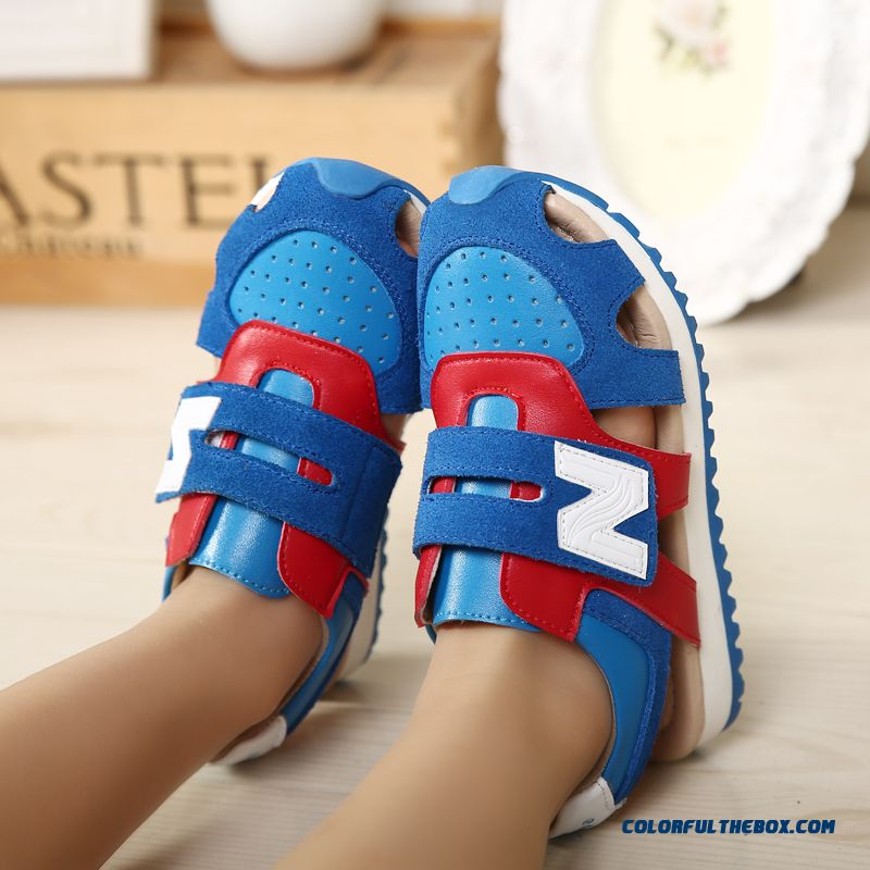 Children's Sandals Leather Sandals Boys Sandals Hollow Kids Shoes Summer - more images 2