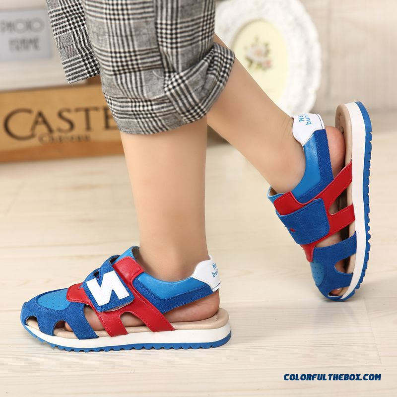 Children's Sandals Leather Sandals Boys Sandals Hollow Kids Shoes Summer - more images 3