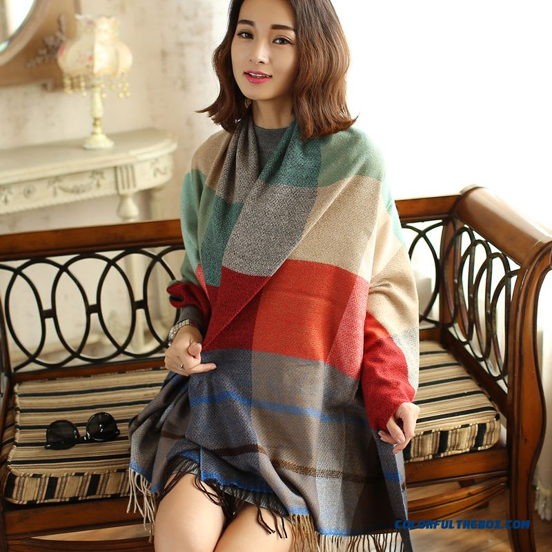 China Supplier Custom Accessories New England Style Sub-cashmere Large Thick Shawl For Women