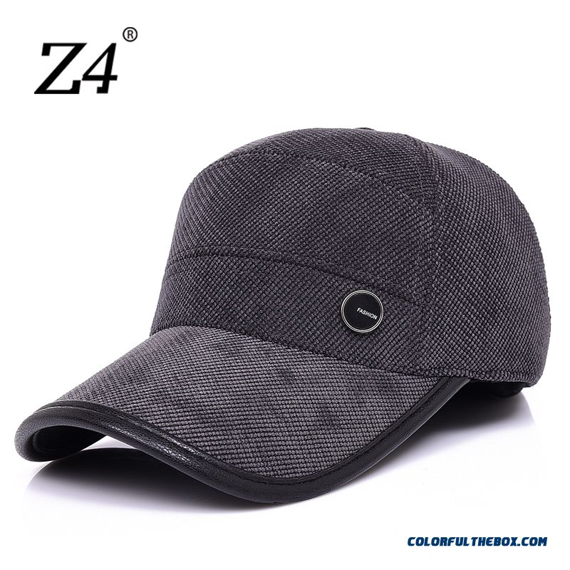 China Supplier Custom Men's Accessories Middle-aged Elderly Outdoor Recreational Peaked Cap Thick Cap