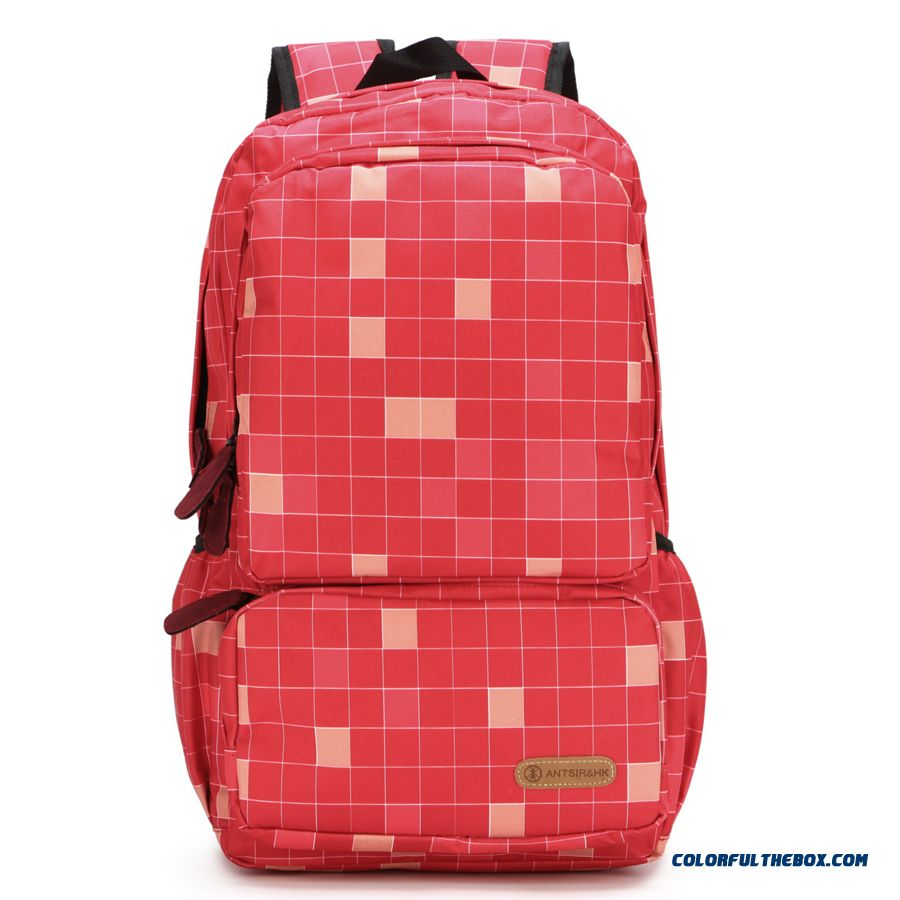 Chinese Local Brands Backpack For Student Teenager Boy And Girl Men's Plaid Style Bag