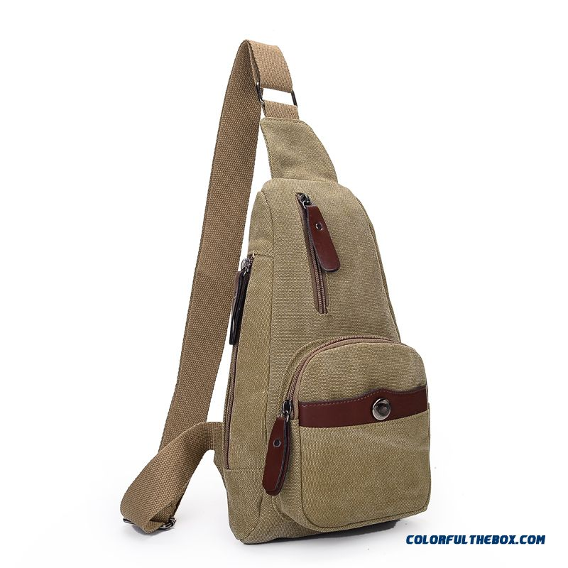 Chinese Original Outdoor Canvas Casual Crossbody Bags Certified Bags Used By Men