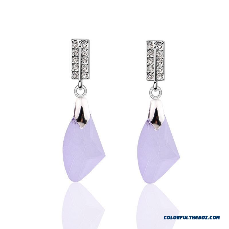 Christmas 2015 Fashion Crystal Drop Jewelry Earrings For Women Manufacturers Wholesale