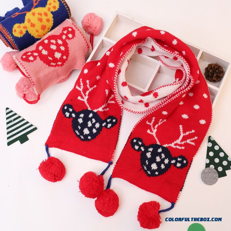 Cheap Christmas Gifts Kids Scarf Knitting Wool Scarves Baby Winter ...