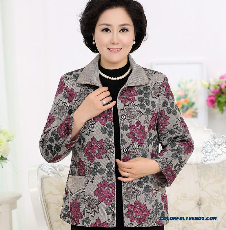 Classic Design Free Shipping Thick Padded Jacket Elderly Women
