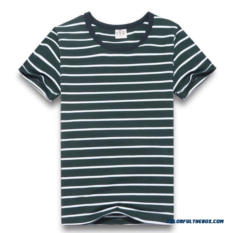 Classic Fashion Stripes Design T-shirts For Kids Boys Short-skeeved Choose A Variety Of Styles