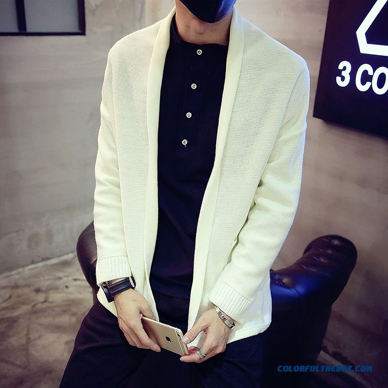 Classic Look Men's Sweaters Slim Autumn Cardigan Coat Teenagers