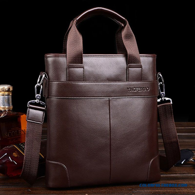 Classic Mature Men Business Bags Casual Leather Briefcase Hot Sale In Winter