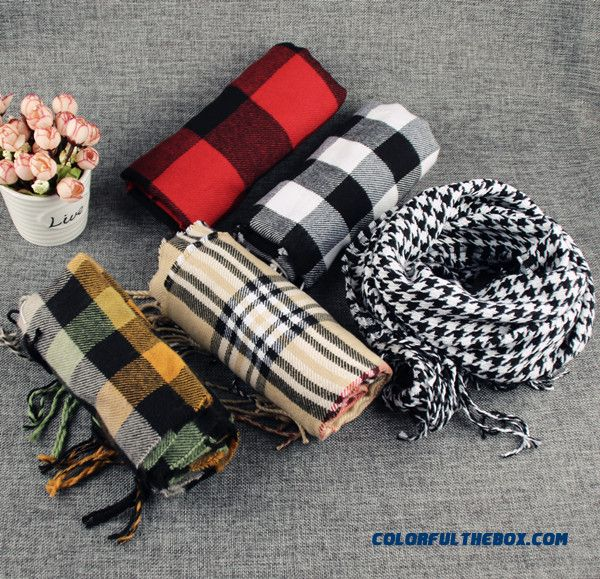 Classic Plaid Cashmere Neck Scarves Girl Warm All-match Boys Scarves For Over 2 Years Old Kids