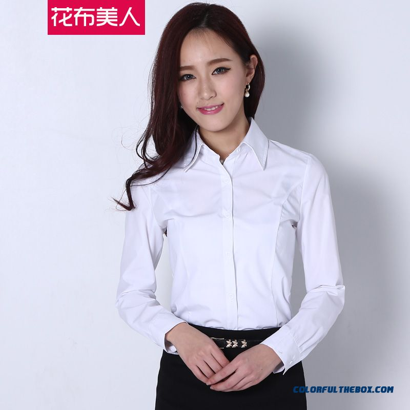Classic Summer New Long-sleeved White Shirt Women Blouses Large Size