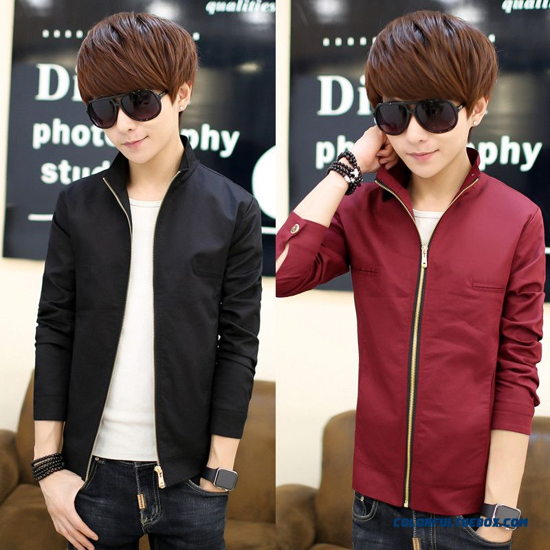 Classic Top Sale Spring And Autumn Slim Stand Collar Men Jacket