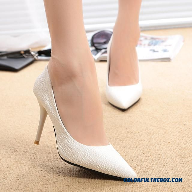 Clearance Specials Women Shoes Newest White Pointed Fine Heel High-heeled Pumps