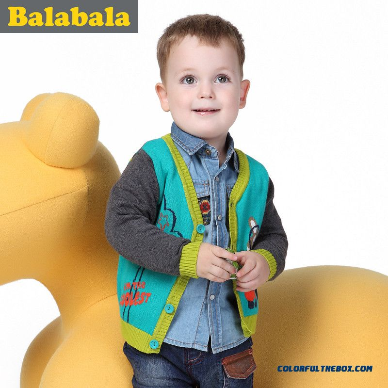 Clothing Baby Boys Cartoon Young Kids Sweater Knit Cardigan 2015 New Kids' Button Cardigan