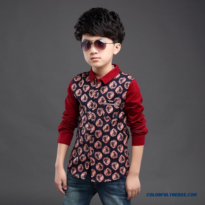 Clothing Designed Exclusively Boys Long-sleeved Shirt Children Spring 2016 Korean Style Blouses - more images 1
