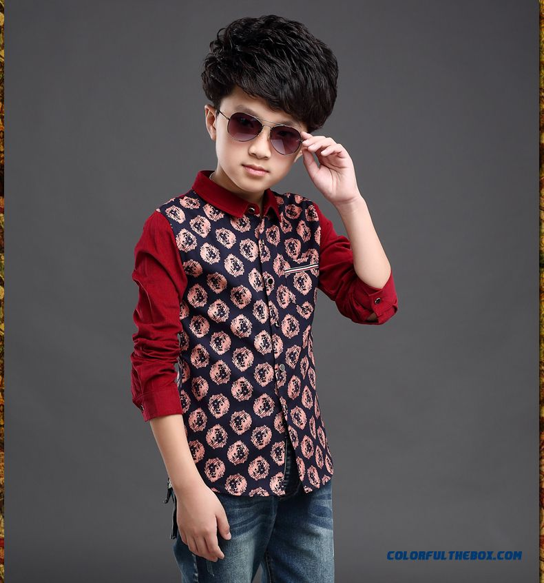 Clothing Designed Exclusively Boys Long-sleeved Shirt Children Spring 2016 Korean Style Blouses - more images 2