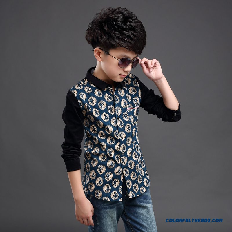 Clothing Designed Exclusively Boys Long-sleeved Shirt Children Spring 2016 Korean Style Blouses - more images 4