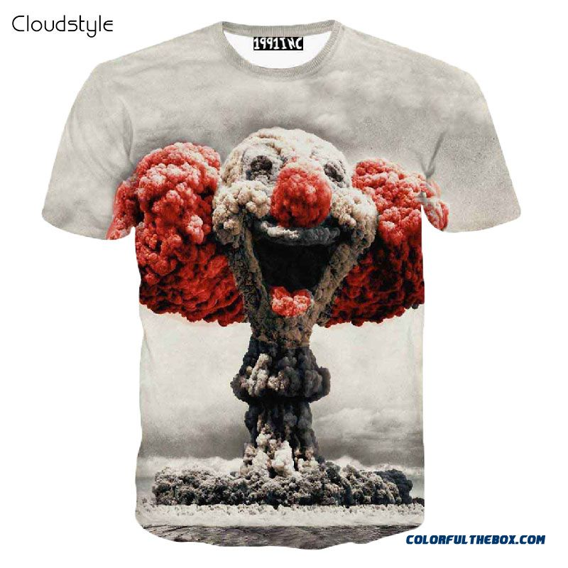 Cloudstyle 21 Patterns S-3xl Funny 3d T-shirts Men Cloud Clown Print Tshirt Fashion O Neck Tee Top Homme Camisetas Hombre