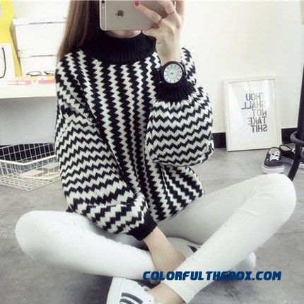 College Student Women Girl Lady Sweater Loose Pull Blouson Bottoming Shirt Fashion Sweater Coats