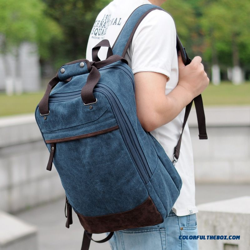 3ba98ad83eb0 College Style Of Shoulder Bag Canvas Backpack Multi-purpose Laptop Bag  Travel Bags For Men