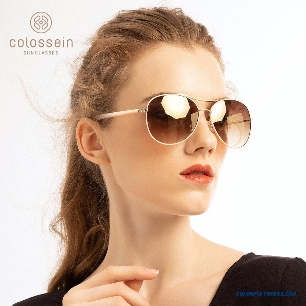 Colossein Sunglasses Women Fashion Gold Frame Classic Female Unisex Sun Glasses For 2019 Outdoor Eyewear Uv400 Gafas De Sol