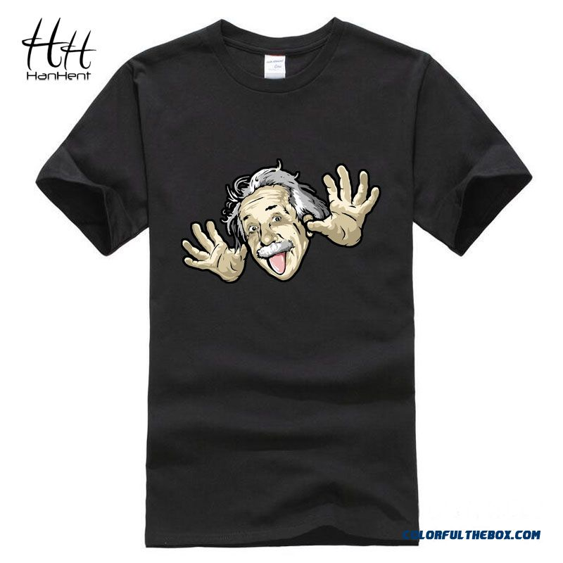 Comical Albert Einstein T Shirt Men 2016 Summer New Funny Cotton Top Tees Short Sleeve The Big Bang Theory T-shirt Ta0473
