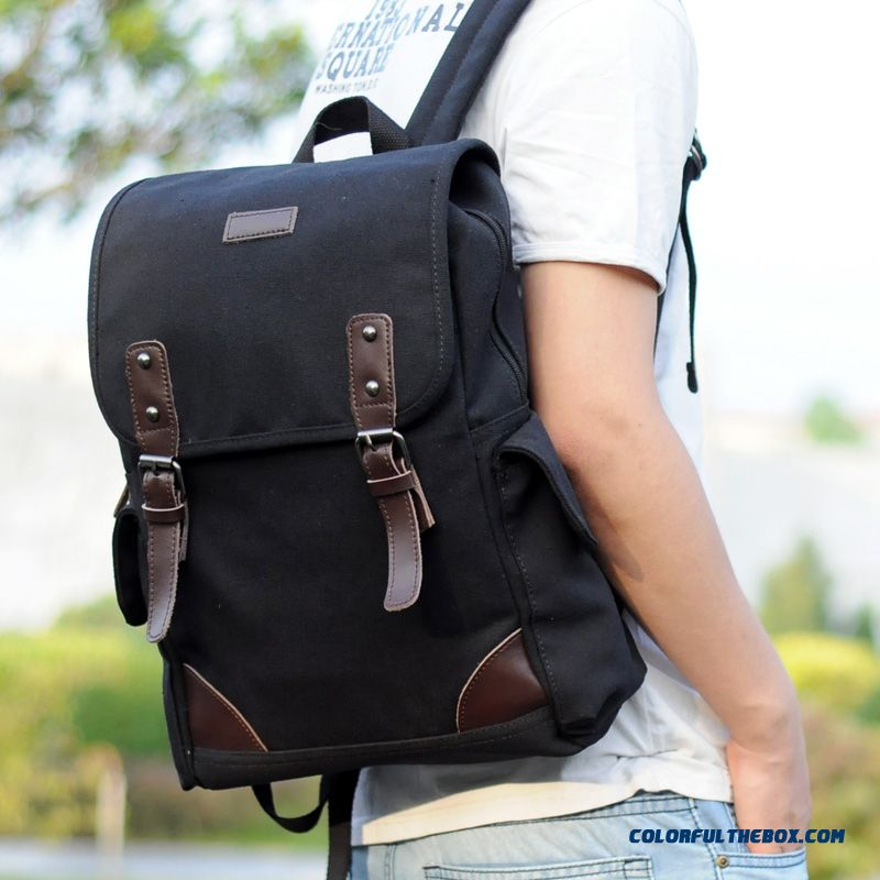 2334eeb29bde Contracted But Not Simple Canvas Shoulder Bags Men Backpack Laptop Bag  Street Fashion Trend