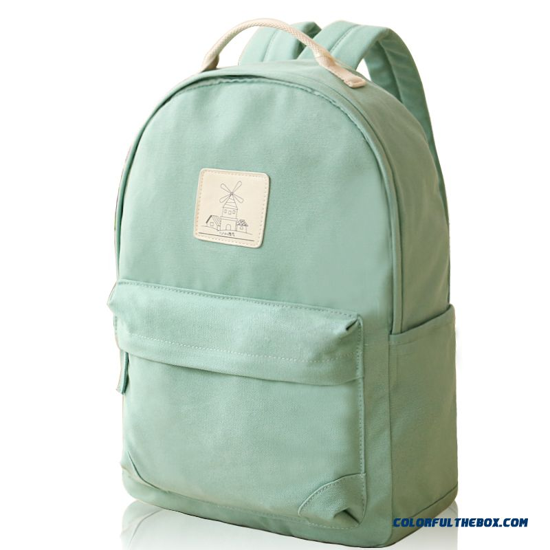 Contracted But Not Simple Women Notebook Backpack Canvas Shoulder Bags Travel Bags Solid