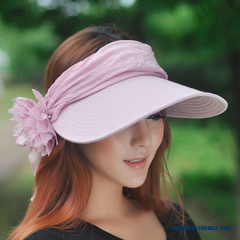 Cool Summer Uv Protection Empty Top Hat Lady Women Sunshade Hat Outdoors Cycling Sunscreen Sun Hat