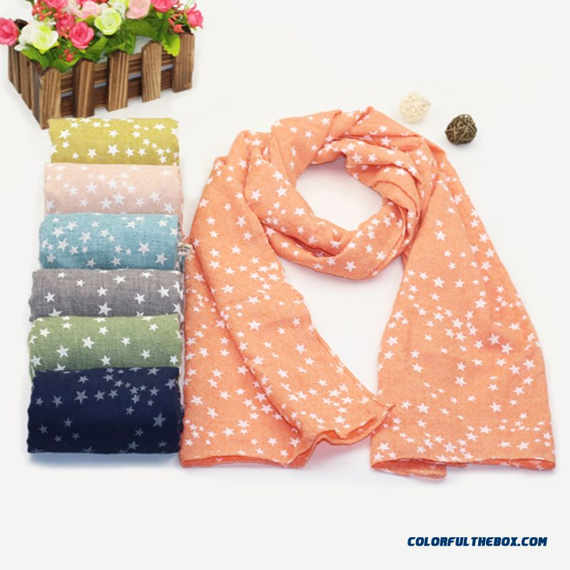 Cotton And Linen Girl Scarves Parent-child Babies Kids Scarf Fashion All-match Accessories Low Price