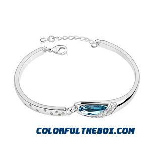 Counter Genuine Women Jewelry Crystal Bracelet - Glass Slipper